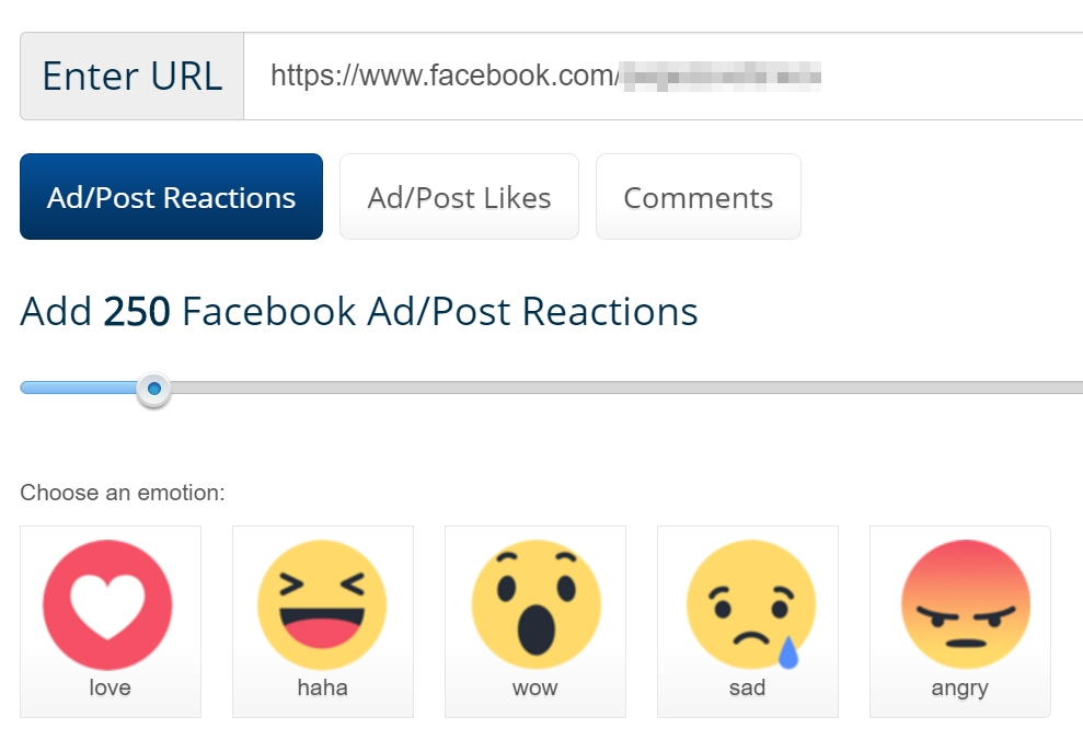 buy Facebook reactions