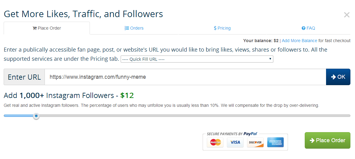 buy likes followers